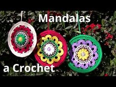 DIY Tutorial - How to Crochet Mandala Dreamcatcher - Sun Dream Catcher Hula Hoop Yarn Bombing Basic Crochet Stitches, Crochet Motif, Crochet Yarn, Mandala Crochet, Crochet Dreamcatcher, Yarn Bombing, Crochet Videos, Knitting For Beginners, Crochet Hearts