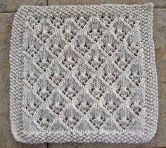 Knitted elfin lace pattern dishcloth by girbska