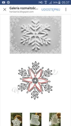 Crochet Snowflake Pattern, Crochet Stars, Christmas Crochet Patterns, Crochet Snowflakes, Crochet Flower Patterns, Christmas Knitting, Thread Crochet, Crochet Flowers, Crochet Diagram