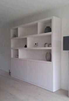 Lego Storage, Built In Bookcase, House 2, Home And Garden, Shelves, Living Room, Building, Denim Drift, Robin