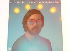 ANNIVERSARY SALE Al Di Meola - Land of the Midnight Sun - Latin Jazz - Jazz Fusion - Original Release Columbia Records 1976 - Vintage Vinyl