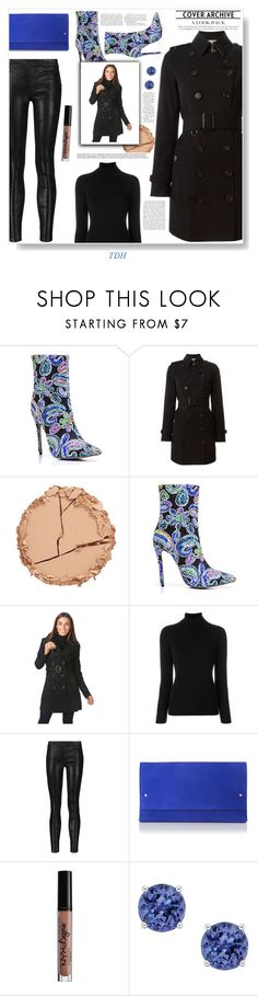 """""""Burberry Trench Coat"""" by talvadh ❤ liked on Polyvore featuring Burberry, Estelle & Thild, La Fileria, J Brand and Charlotte Russe"""