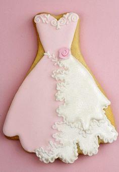 pretty evening dress cookie Tartas Cakes Haute Couture
