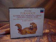 Puccini Turandot 2 CD Set Decca 1984 Sutherland Pavarotti Caballe Ghiaurov Pears Seller florasgarden on ebay