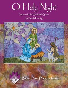 holy night stained glass quilting