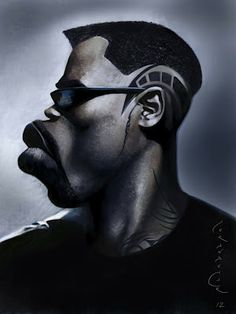 Wesley Snipes as Blade #Caricature #FunnyFaces