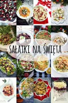 Świąteczne sałatki Raw Food Recipes, Cooking Recipes, Healthy Recipes, Polish Recipes, Quick Snacks, Food Porn, Food And Drink, Appetizers, Dishes