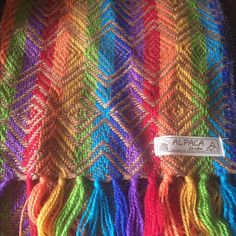 Alpaca Scarf Multicolored alpaca scarf. Very soft. Accessories Scarves & Wraps