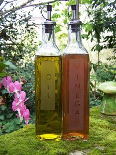 Oil and Vinegar Set by AnnieTwoBraids on Etsy