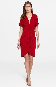 Catherine Catherine Malandrino 'Emily' Cold Shoulder Twist Front Dress available at #Nordstrom