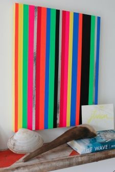 thumbs neon tape frame interior design modern bold colors 23 Get Your Tape On!