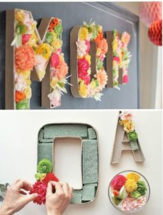 3 ideas para decorar Letras con Flores - All Lovely Party