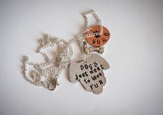 Dogs just want to have fun necklace with three by SilviaWithLove, €18.90