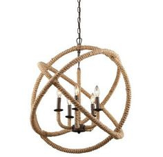 Rope Chandelier Orb Chandelier | Lighting Connection