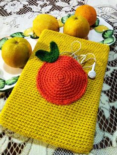 Crochet iPad/tablet/laptop cover,case,sleeve,cosy with pocket. PATTERN.
