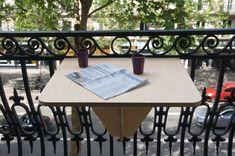 Table Dépliante, Drafting Desk, Balcony, Home Decor, Small Balconies, Decoration Home, Room Decor, Balconies, Home Interior Design