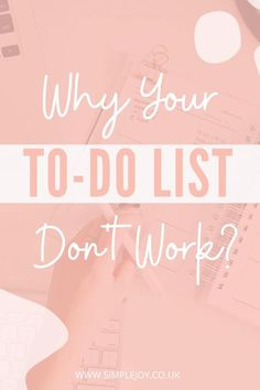 How can you be more productive during your day by simplifying your to do list and decluttering some of your must do actions! Simple Joy   Intentional Living Coach, Decluttering & Minimalism. Helping people find more joy & less overwhelm by decluttering their home & lives. #simplejoy #minimalism #intentionalliving #habits #healthyhabits #productivity #todolist Beauty Routine Checklist, Beauty Routines, Self Development, Personal Development, Planning And Organizing, How To Stop Procrastinating, Time Management Tips, Understanding Yourself, Self Help