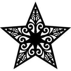 Intricate Star Vinyl Car Decal Bumper Window Sticker Any Color Silhouette Store, Star Silhouette, Silhouette Design, Silhouette Cameo, Christmas Star, Christmas Crafts, Christmas Decorations, Christmas Ornaments, 3d Zeichenstift