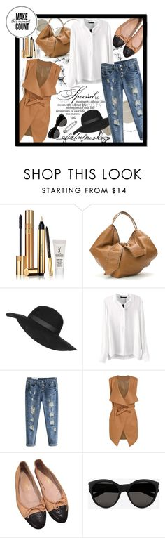 """""""Beautifulhalo!"""" by ina-kis ❤ liked on Polyvore featuring Yves Saint Laurent, Valentino, Topshop, Chanel, Stella & Dot, women's clothing, women, female, woman and misses"""