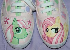 Women's Custom Painted Tennis Shoes MY LITTLE PONY Inspired Any Size PAINTMAMA