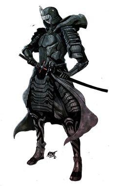 Nikolas Draperivey - Feudal Star Wars Series Samurai Kylo Ren