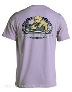 Sugar Magnolias SHOELACES  Unisex Tee Shirt Southern Shoe Laces Puppy T-Shirt