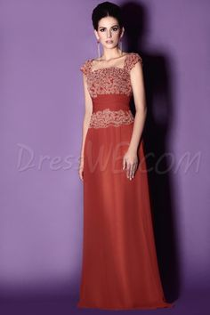 Dresswe.com SUPPLIES Charming Lace  Sheath Square Neckline Floor-Length Taline's Mother of the Bride Dress Mother Dresses 2014