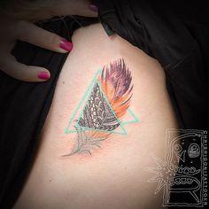 @chrisrigonitattooer • Thanks Charlotte! A feather for her father  #chrisrigonitattooer #chrisrigoni #tattoo #holdfasttattoo #feather #feathertattoo #perth