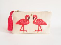 This item is unavailable Deer Makeup, Makeup Pouch, Makeup Organization, Pouches, Makeup Brushes, Flamingo, My Etsy Shop, Check, Pink