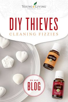Add a little fun to your spring cleaning routine with these DIY Thieves cleaning fizzies!