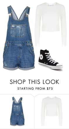 """Denim"" by chavezmariel ❤ liked on Polyvore featuring Topshop, Charlie May and Converse"