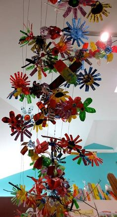 plastic flowers and plants