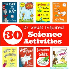Check out this great collection of Dr. Seuss inspired science activities. Ideas for measuring, graphing, observation skills, experiments, and lots more!