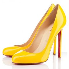 Little Yellow Shoe with the Red Soul-Louboutin 2012