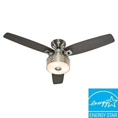 Hunter, Camille 52 in. Brushed Chrome Indoor Ceiling Fan, 59000 at The Home Depot - Mobile