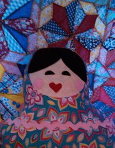 Russian Doll Sweet Dreams Pillow  Iryna by PinkScissorsDesign, $20.00