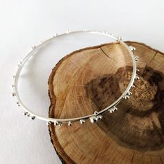 Excited to share this item from my shop: Delicate bubble bangle Bangles Making, Handmade Items, Handmade Gifts, Uk Shop, Beautiful Necklaces, Den, Bubbles, Delicate, Etsy Shop