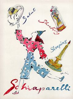 Schiaparelli (Perfumes) 1942 Shocking, Sleeping, Salut, Marcel Vertès, Clown