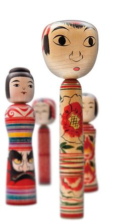 Kokeshi Dolls were made in 6 prefectures that effected by Tsunami in the Tohoku province. The craft village was gone by the big wave...