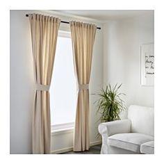 INGERT Rideaux+embrasses, 1 paire, gris 49,90 € IKEA - INGERT, Rideaux+embrasses, 1 paire, , Les rideaux atténuent la luminosité et préservent l'intimité.Les rideaux peuvent être suspendus à une tringle ou un rail.Le ruban du bord supérieur vous permet de froncer facilement le rideau suspendu avec les crochets RIKTIG.Rideau à suspendre à une tringle par les passants cachés ou à l'aide d'anneaux et de crochets.