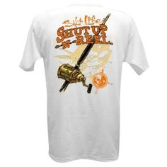 Salt Life Men's Shut Up And Reel Em Pocket Tee Shirt (White;Small)