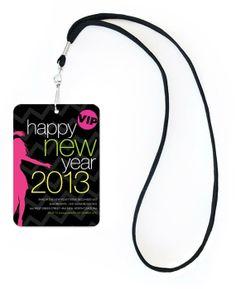 Party Girl Chevron New Year VIP Invitation #newyearseve #holiday #party #invitation