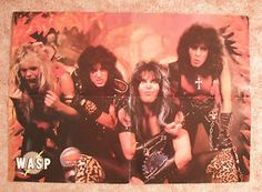 blackie and wasp | Wasp-Multipart-Folded-Poster-1983-Blackie-Lawless