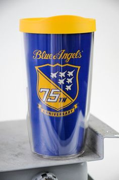 BLUE ANGELS - 75TH ANNIVERSARY TERVIS TUMBLER TERVIS BRAND TUMBLER *MADE IN AMERICA *HIGH QUALITY *16OZ *LIFETIME GUARANTEE (Activate at TERVIS.COM) *BPA SAFE *DISHWASHER SAFE
