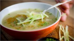 NYT Cooking: This light puree is more celery than potato. The potato thickens the soup, a simple potage that is brought to life by the tiny amount of walnut oil that's drizzled onto each serving. Soup Recipes, Diet Recipes, Healthy Recipes, Diet Meals, Healthy Dinners, Potato Recipes, Veggie Recipes, Recipies, Cream Of Celery Soup