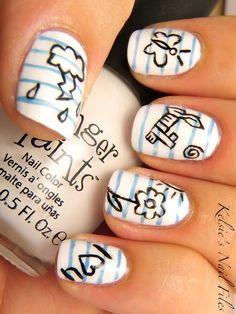 Cute Back to School Nails fashion cute nails nail polish nail art manicure back to school mani Love Nails, How To Do Nails, Pretty Nails, Fun Nails, Crazy Nails, School Nail Art, Back To School Nails, Nail Art Designs, Nagellack Design