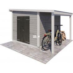 JABO Torsbo redskabsrum m/ tagudbygning N / M²: + Backyard Storage Sheds, Shed Storage, Garden Cabins, Garden Yard Ideas, Outdoor Living, Outdoor Decor, Garden Styles, Garden Inspiration, Garden Design