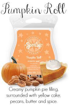 Scentsy Pumpkin Roll - YUM!  https://krystynranee.scentsy.us
