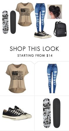"""""""Untitled #329"""" by mackenziethebeauty on Polyvore featuring WithChic, Converse, Blind and Everest"""