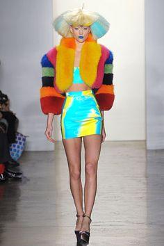 Jeremy Scott. I want that coat! its amazing and technicolor